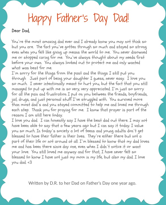 Father's Day Letter From a Hurting Teen - Anchor Of Promise