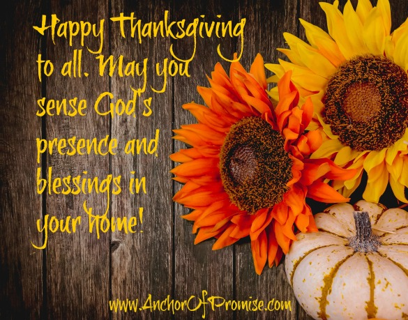 Happy Thanksgiving - Anchor Of Promise